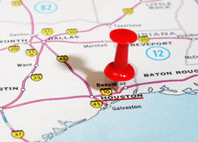 Karte Houstons USA Lizenzfreie Stockbilder