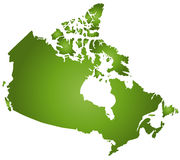 Karte Kanada Stockfotos