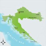Karte Kroatien stockbilder