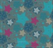 Karte mit abstrakten Blumen und Blättern Lizenzfreie Stockfotos