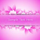 Karte mit Blumen Lizenzfreie Stockfotos