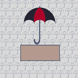Karte mit einem Regenschirm für Ihr Design Lizenzfreies Stockbild
