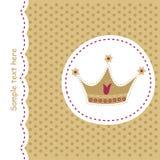 Karte mit königlicher Krone Stockfoto