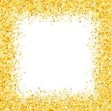 Karte mit Schimmer Grußkarte mit Sternen Goldschein shimmer funkelt Goldener Rahmen von Herzen Lizenzfreies Stockfoto