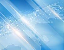 Karte mit Verbindungsvektorhintergrund EPS10 Stockfotos