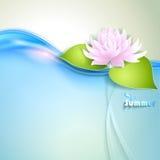 Karte mit waterlily stilisiert