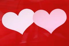 Karte mit zwei Inneren für Valentinsgruß oder Hochzeit. Stockfotos