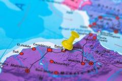 Karte Rabats Marokko lizenzfreie stockbilder