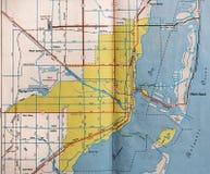 Karte Retro- Miamis, Florida lizenzfreies stockbild