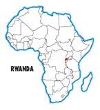 Karte Ruandas Afrika vektor abbildung