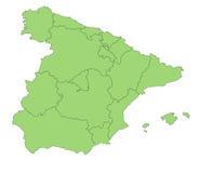 Karte Spanien Lizenzfreies Stockfoto