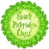 Karte St. Patricks Tages Stockfoto