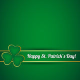 Karte St. Patricks Tages Lizenzfreies Stockbild