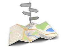 Karte und Index Lizenzfreies Stockfoto