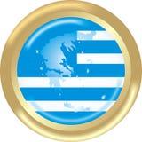 Karte und Markierungsfahne von Griechenland Lizenzfreie Stockfotografie