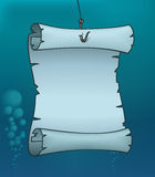 Karte Unterwasser Lizenzfreies Stockfoto