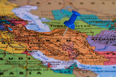 Karte vom Iran Lizenzfreies Stockfoto