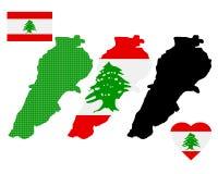 Karte vom Libanon Lizenzfreies Stockfoto