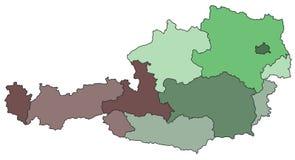Karte von Österreich Lizenzfreie Stockfotos