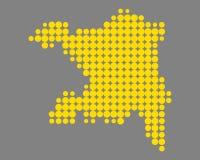 Karte von Aargau Stockbilder
