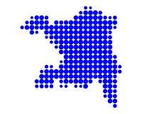 Karte von Aargau Stockfotografie