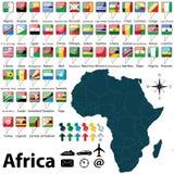 Karte von Afrika Stockfotos