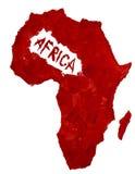 Karte von Afrika Lizenzfreie Stockfotos