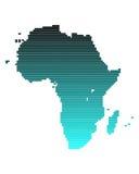 Karte von Afrika stock abbildung