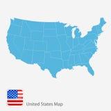 Karte von Amerika stock abbildung