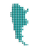 Karte von Argentinien lizenzfreie abbildung