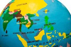 Karte von Asien stockbild