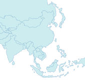 Karte von Asien Stockfoto