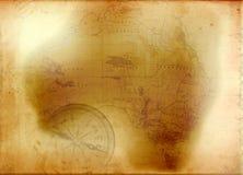 Karte von Australien Lizenzfreies Stockfoto