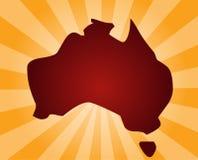 Karte von Australien stock abbildung