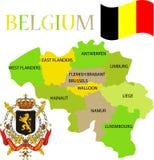 Karte von Belgien mit seinen Provinzen. Lizenzfreie Stockfotografie