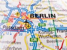 Karte von Berlin Stockfotos
