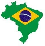 Karte von Brasilien Stockbilder
