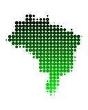 Karte von Brasilien Lizenzfreie Stockbilder