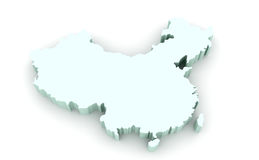 Karte von China Lizenzfreies Stockfoto