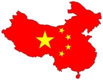 Karte von China Lizenzfreies Stockbild