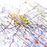 Karte von Dallas Stockfoto