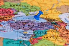 Karte von der Türkei Stockfotografie