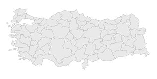 Karte von der Türkei stockfotos