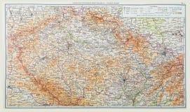Karte von der Tschechoslowakei ab 1957, alte Karte Stockfotos