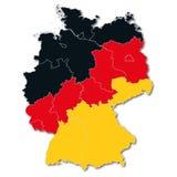 Karte von Deutschland Lizenzfreies Stockfoto