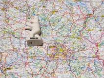Karte von Deutschland-Andenken von Berlin Stockfotografie