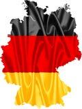 Karte von Deutschland mit Markierungsfahne vektor abbildung