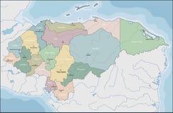 Karte von EL Honduras stockbilder