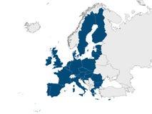 Karte von EU stock abbildung
