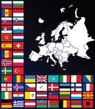 Karte von Europa Stockfotografie